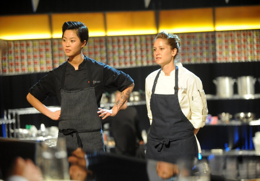 Kristen Kish and Brooke Williamson in the 'Top Chef' final