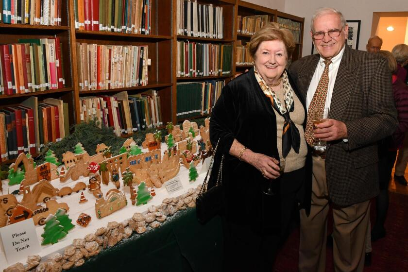 Creators of the annual cookie display: Diana and Francois Goedhuys of the Girard Gourmet