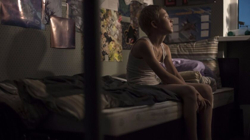 "Matvey Novikov in the film ""Loveless."""