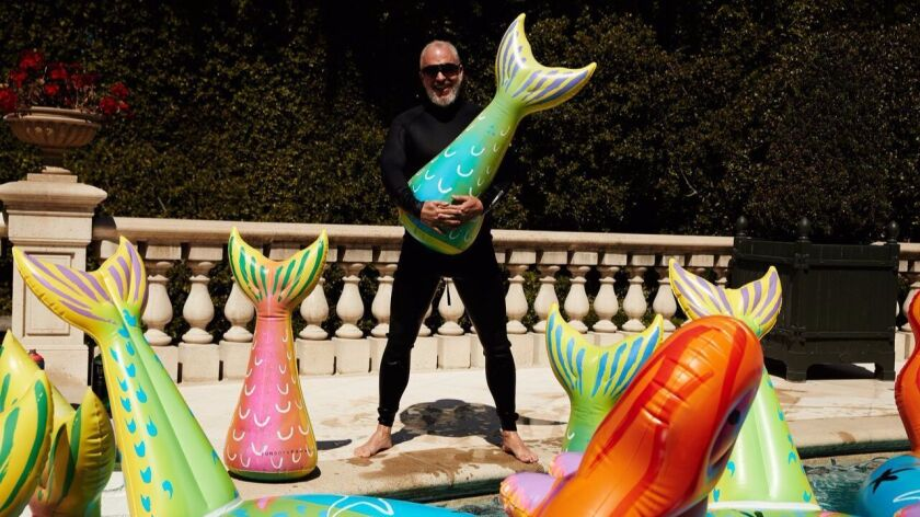 Artist Donald Robertson has designed limited-edition pool floats for Funboy.