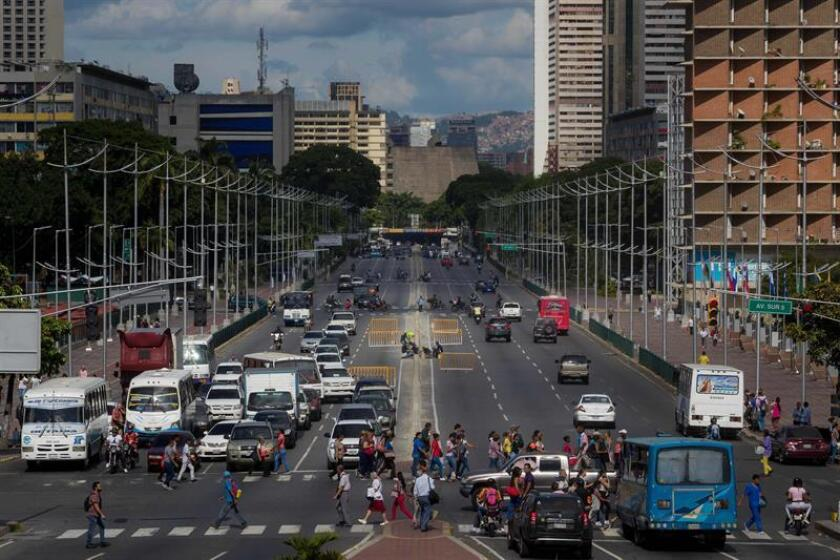Photo taken on July 29, 2019 of Bolivar Avenue in Caracas, Venezuela (issued on Aug. 3, 2019). This avenue was the spot of a failed drone attack against Venezuelan President Nicolas Maduro on Aug. 4, 2018, as he was delivering a speech to mark the 81th anniversary of Venezuela's National Guard. EFE-EPA/Miguel Gutierrez