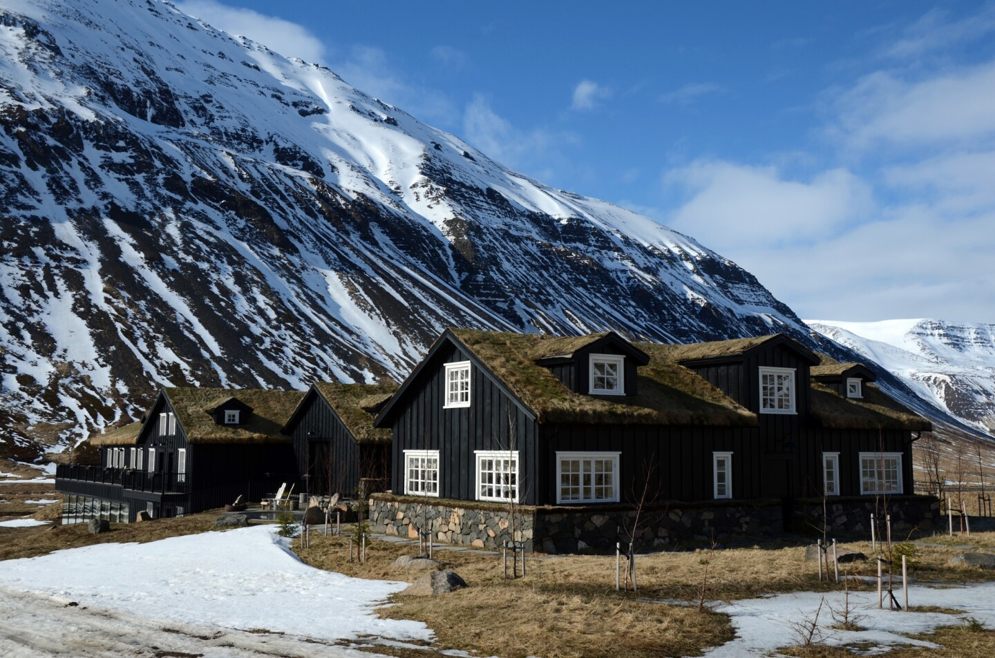 Deplar Farm is a heli-skiing base from March through May. The 13-suite lodge, on a former sheep ranch in the Fljot Valley, is in northern Iceland on the Troll Peninsula.