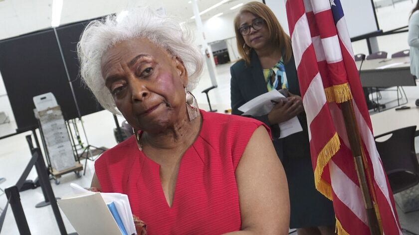 Broward County Supervisor of Elections Brenda Snipes listens to questions from the media, Sunday, No