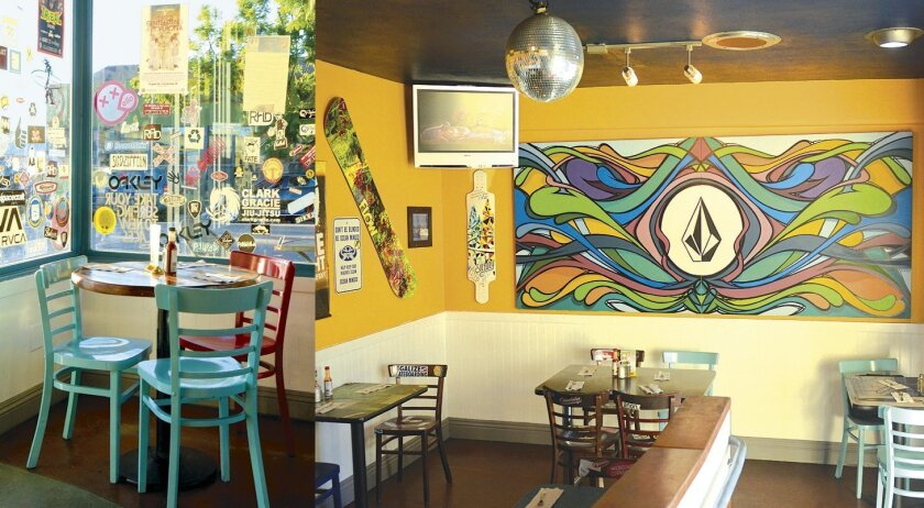 Wahoo's features a local-hangout vibe with sporty stickers and colorful décor inspired by the surfing, skateboarding and snowboarding scene.