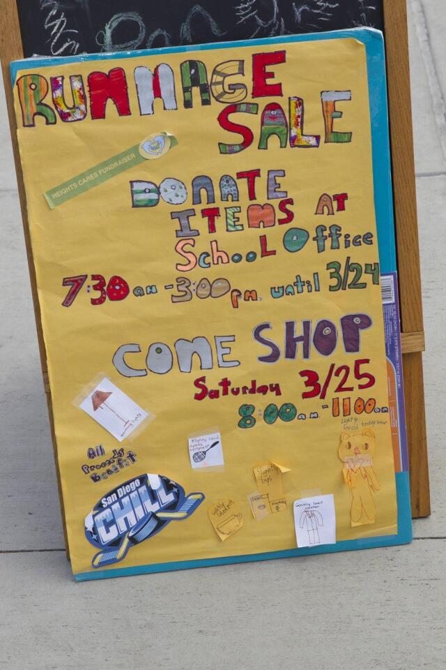 Del Mar Heights School Rummage Sale to benefit San Diego Chill