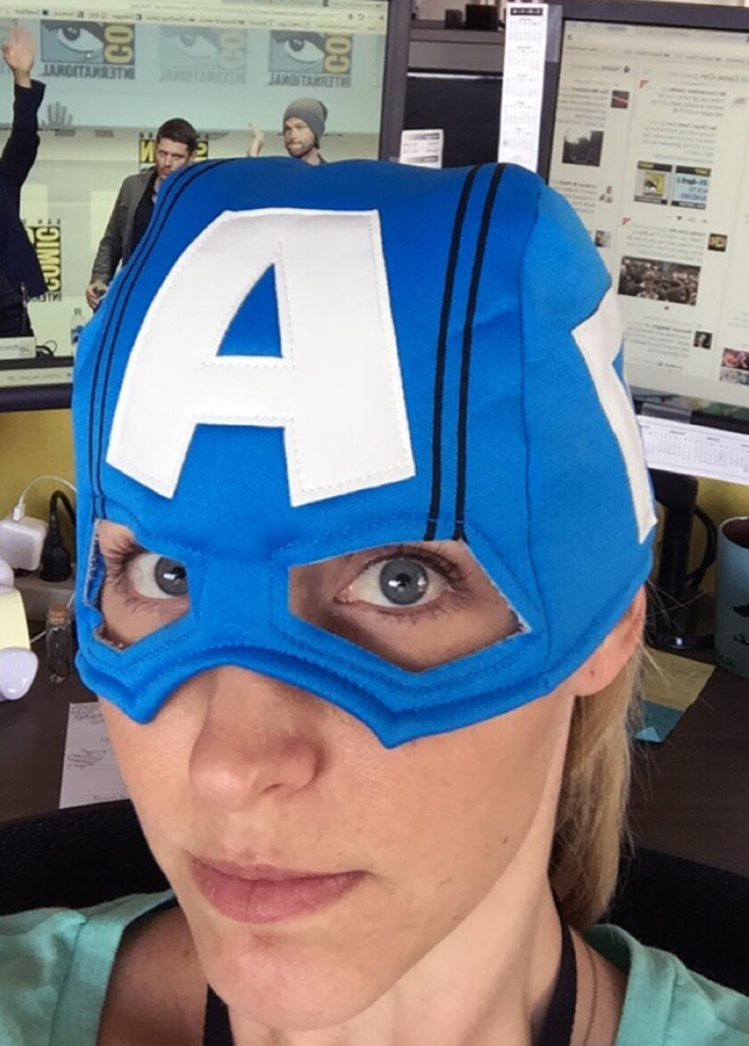 Editor confession: Ok, ok, so I've been known to get down with some cosplay myself. Case in point, here's me reppin' as Captain America after a long weekend of editing Comic-Con stories.