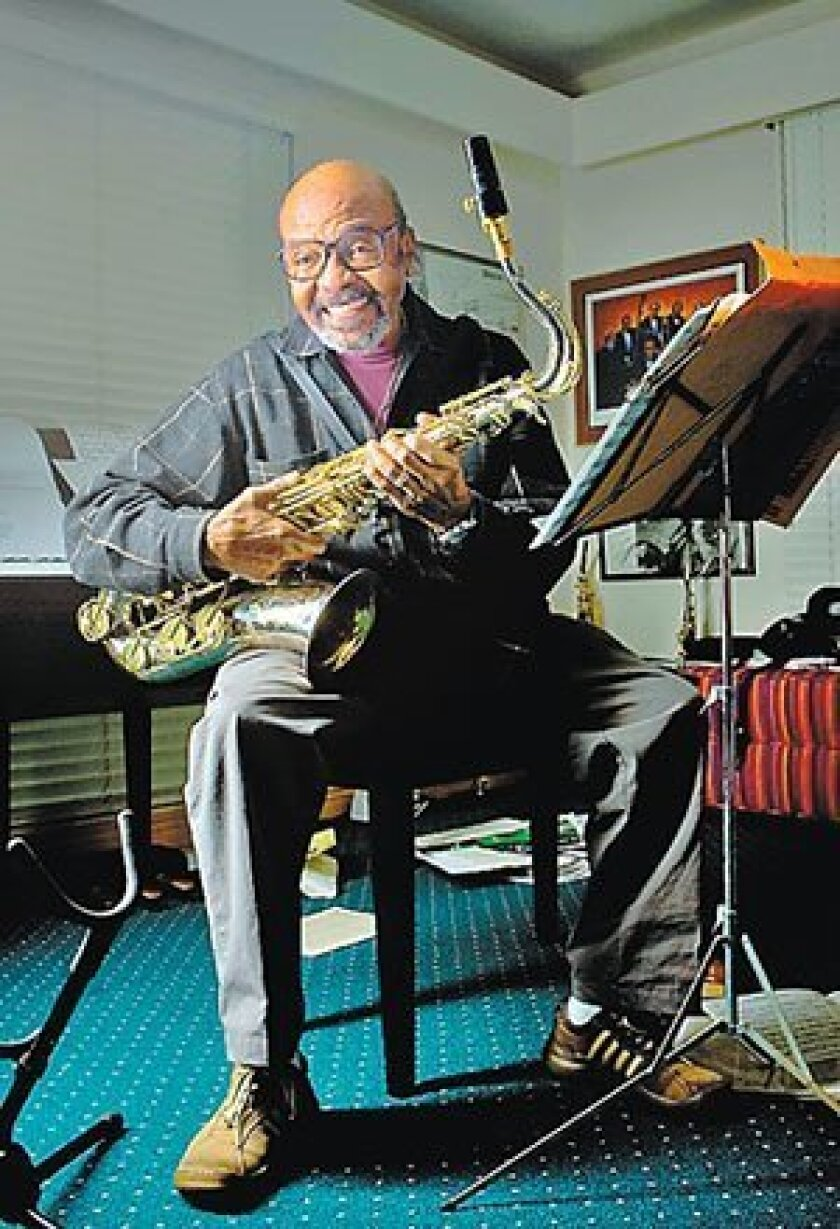 """I never look back,"" says Grammy-nominated jazz legend James Moody. (Nelvin Cepeda / Union-Tribune)"