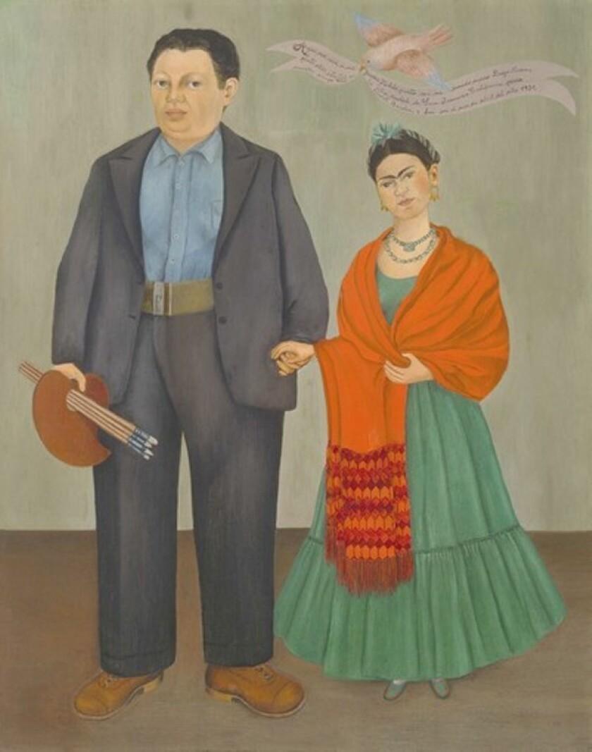 """Frieda and Diego Rivera"" (1931) by Frida Kahlo."