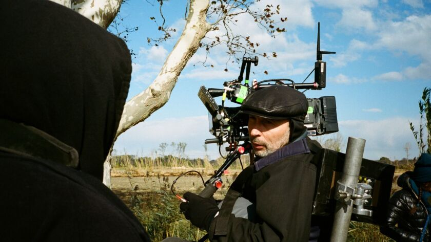 """Cinematographer Benoit Delhomme on the set of Julian Schnabel?s """"AT ETERNITY?S GATE."""" Credit: Lily G"""