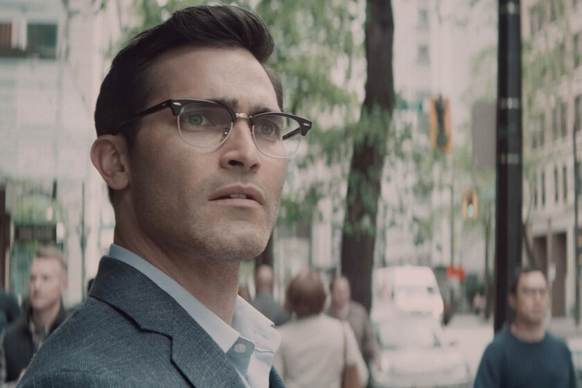 """Tyler Hoechlin looks off in the distance in a scene from """"Superman & Lois"""" on the CW."""