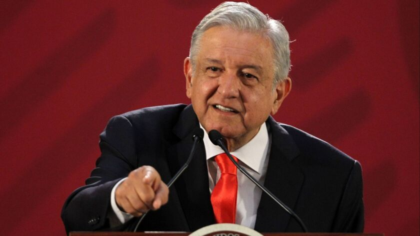 Lopez Obrador presented Trump with ambitious Mexican immigration plan, Mexico City - 13 Dec 2018