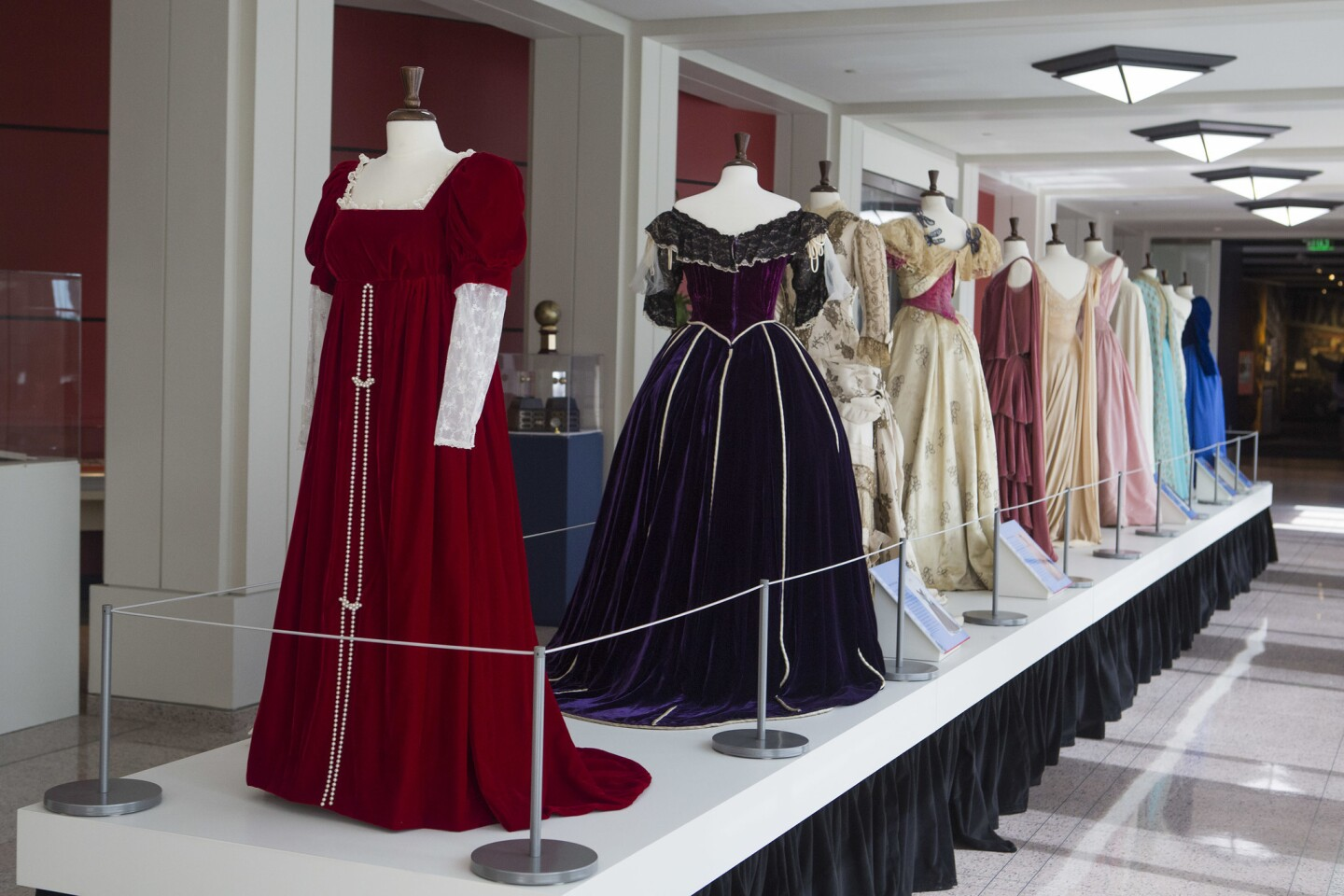 """""""Why They Wore It: The Politics & Pop Culture of First Ladies' Fashion"""" curated by Carl Anthony is on display at the Richard Nixon Library in Yorba Linda through Sept. 20."""