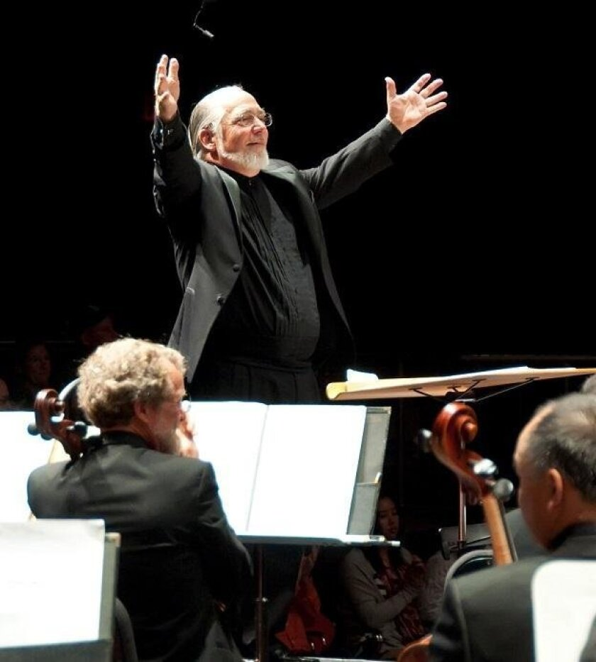 David Chase conducting the La Jolla Symphony & Chorus