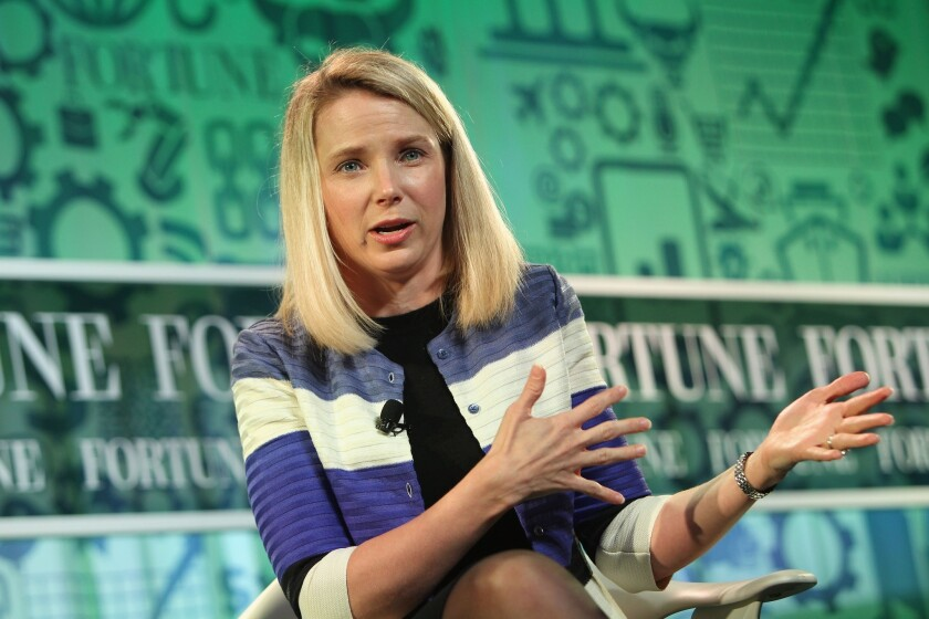 Women account for just 4.6% of the chief executives and 19.6% of the board members of companies in the Standard & Poor's 500 index. Yahoo CEO Marissa Mayer speaks onstage at the FORTUNE Most Powerful Women Summit on October 17, 2013 in Washington, DC.