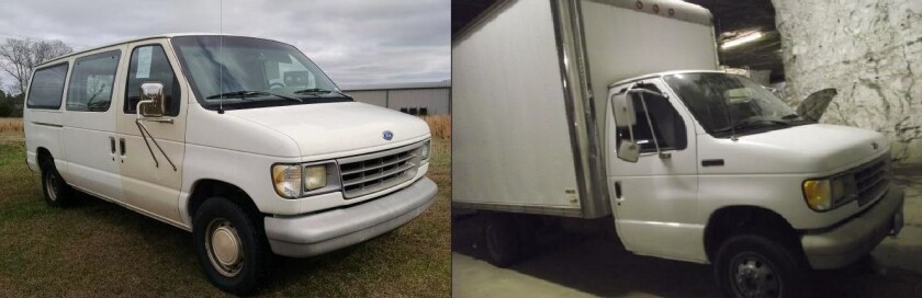 Sheriff's investigators say the vehicle that struck and killed a 60-year-old woman April 15 in San Marcos was an unknown color Ford Econoline series E-150, E-250 or E-350 van or truck, like the examples seen here.
