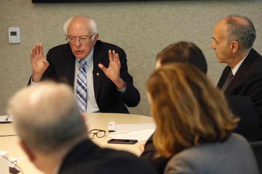 Bernie Sanders at the L.A. Times
