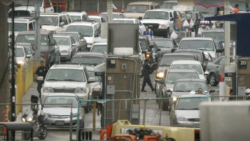 The San Ysidro border crossing. [U-T file]