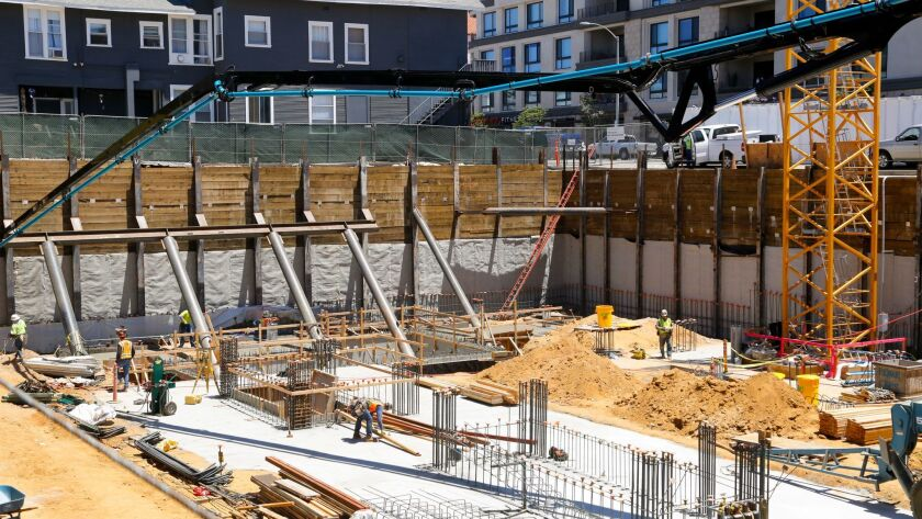 Construction of 41 West, a 10-story luxury condo building in Bankers Hill near Balboa Park.