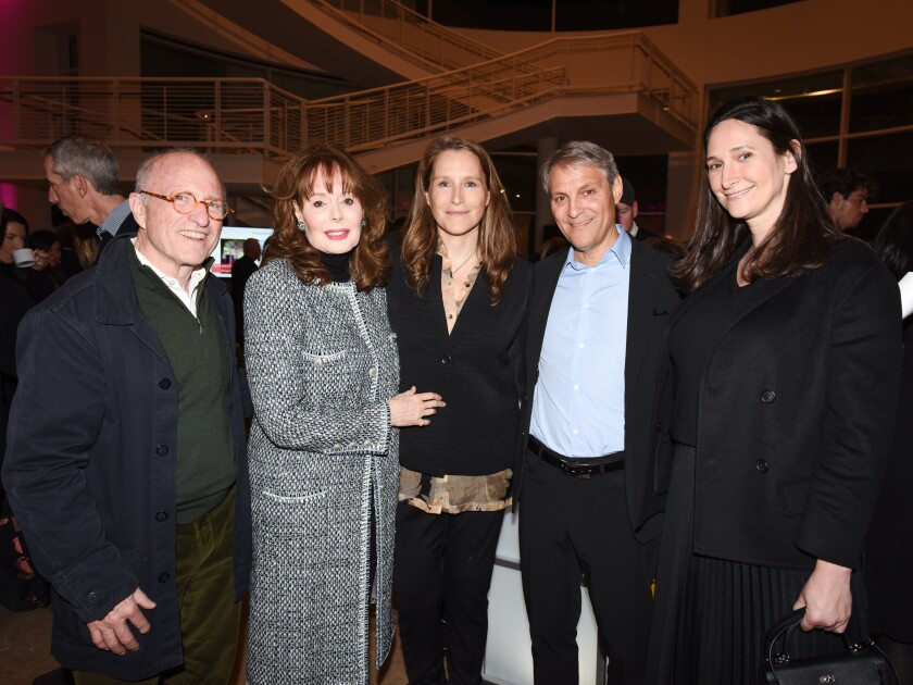Getty Trust CEO James Cuno, left, Getty trustee Maria Hummer-Tuttle, Catherine Gund, Ari Emanuel and Bettina Korek kick off Frieze Week with a panel talk at the Getty Center.