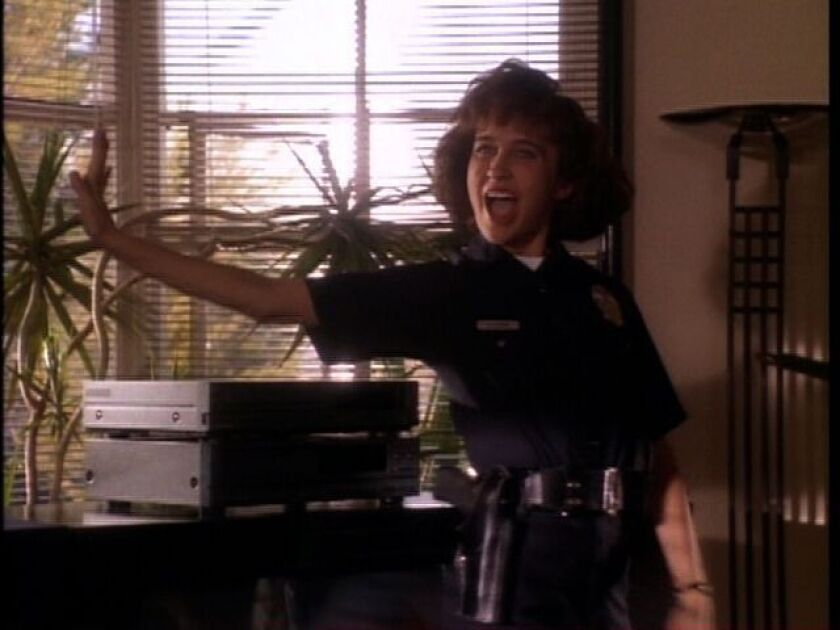 """Anne Bobby in a scene from ABC's 1990 series """"Cop Rock"""""""