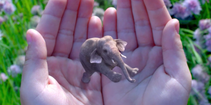 Magic Leap hasn't publicly revealed its wearable technology, but its stated mission is to merge virtual images with the real world. The company's website features a pair of hands cupping an animated elephant.