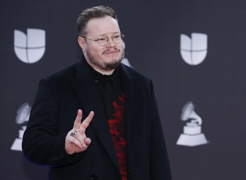 Leonel García llega a la 20ma entrega anual de los Latin Grammy en Las Vegas