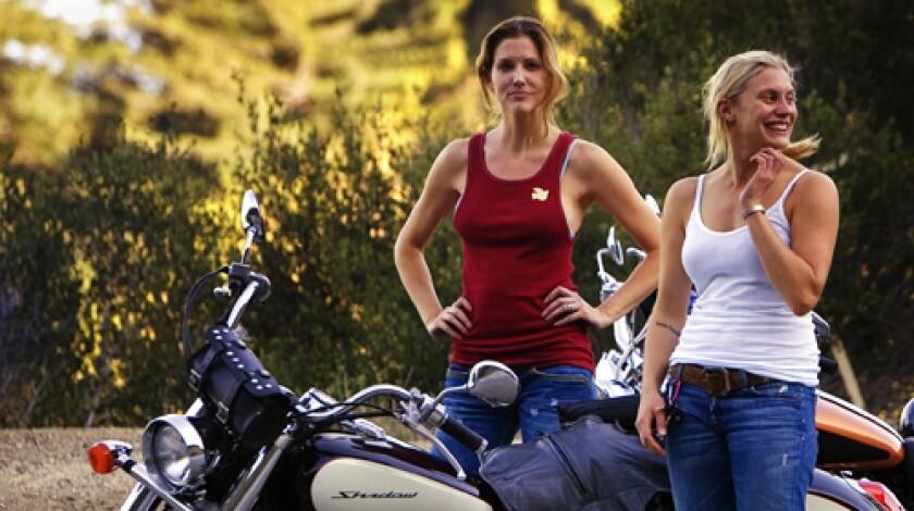 Tricia Helfer and Katee Sackhoff