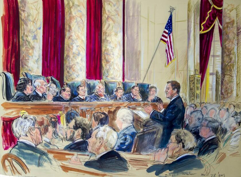 Supreme Court artist rendering