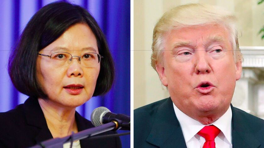Taiwanese President Tsai Ing-wen and President-elect Donald Trump spoke by phone for 12 minutes on Dec. 2.