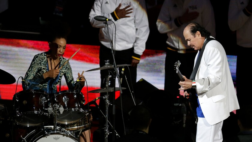 Cindy Blackman and Carlos Santana