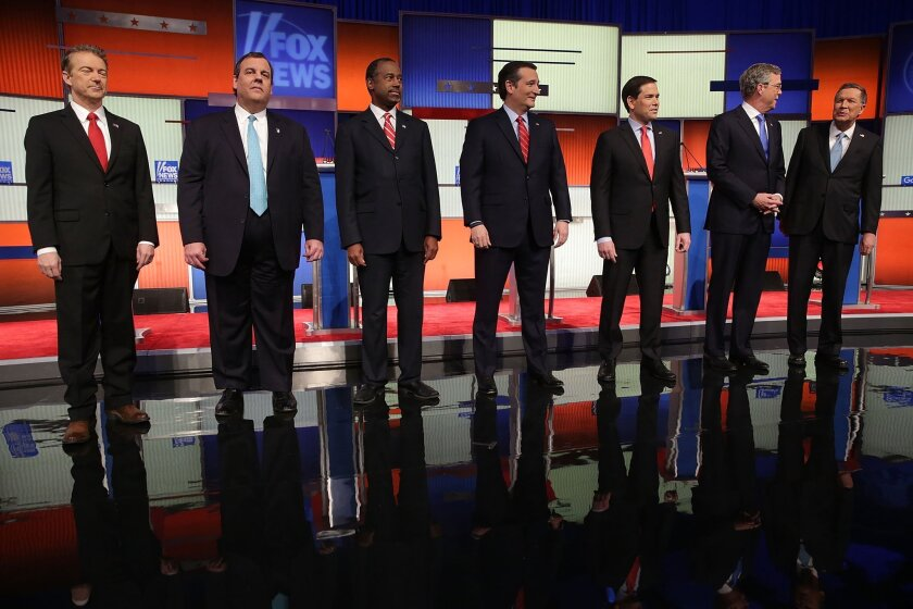Republican presidential candidates debate in Iowa