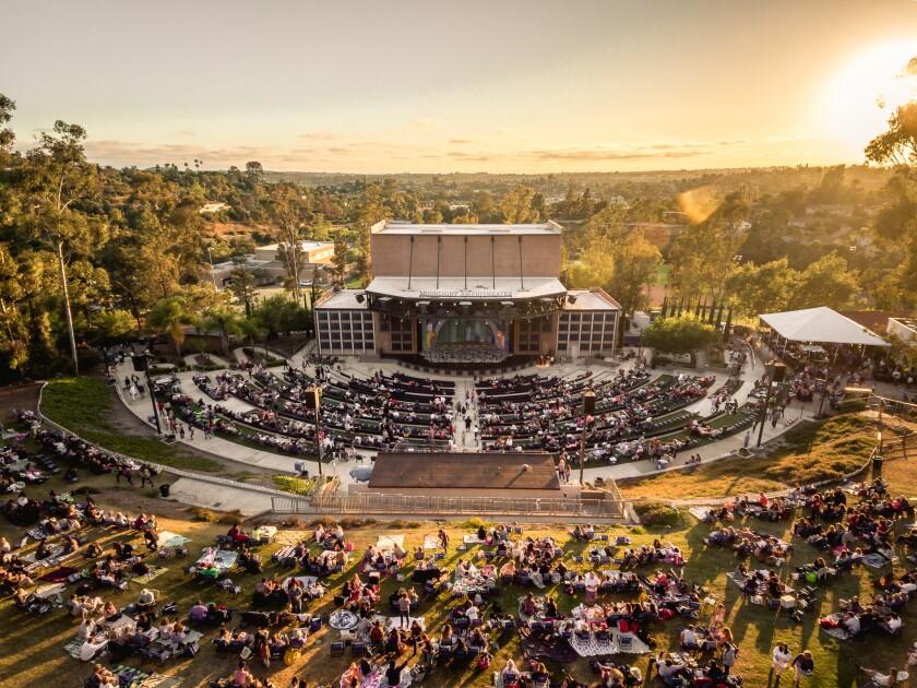 Vista's Moonlight Amphitheatre returned to full operation on Wednesday.