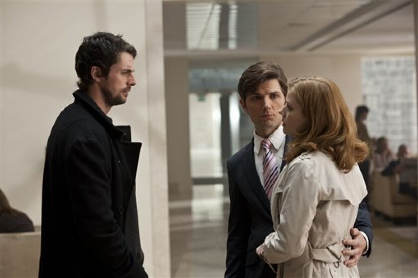 """In this film publicity image released by Universal Pictures, Matthew Goode, left, Adam Scott and Amy Adams are shown in a scene from, """"Leap Year."""" (AP Photo/Universal Pictures, Jonathan Hession)"""