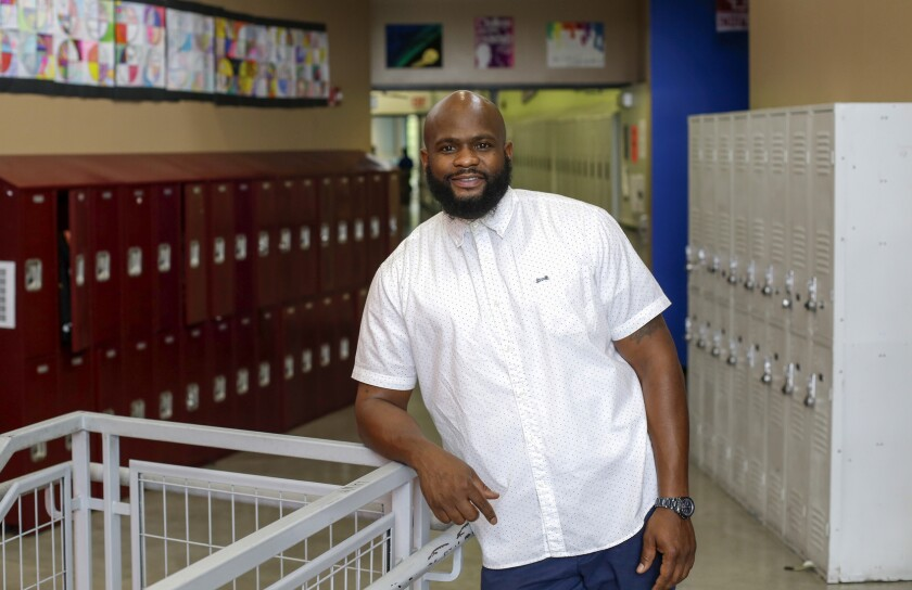 Tiray Jackson,  athletics director for Perspectives Charter Schools