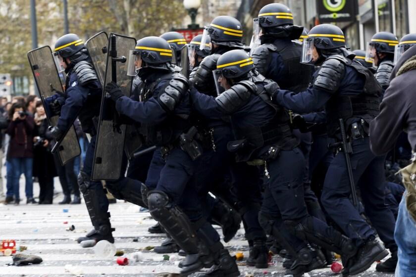 Protest in Paris, France