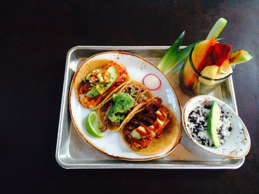 Puesto Mexican Street Food will offer gourmet-taco specials during San Diego Restaurant Week. A dozen other La Jolla eateries will also offer specially priced prix-fixe menus Jan. 18-24.