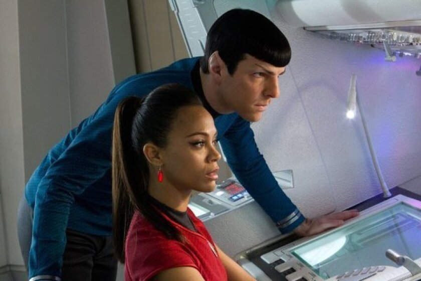 "Lieutenant Uhara (Zoe Saldana) and Commander Spock (Zachary Quinto) break up in the latest ""Star Trek Beyond"" trailer."
