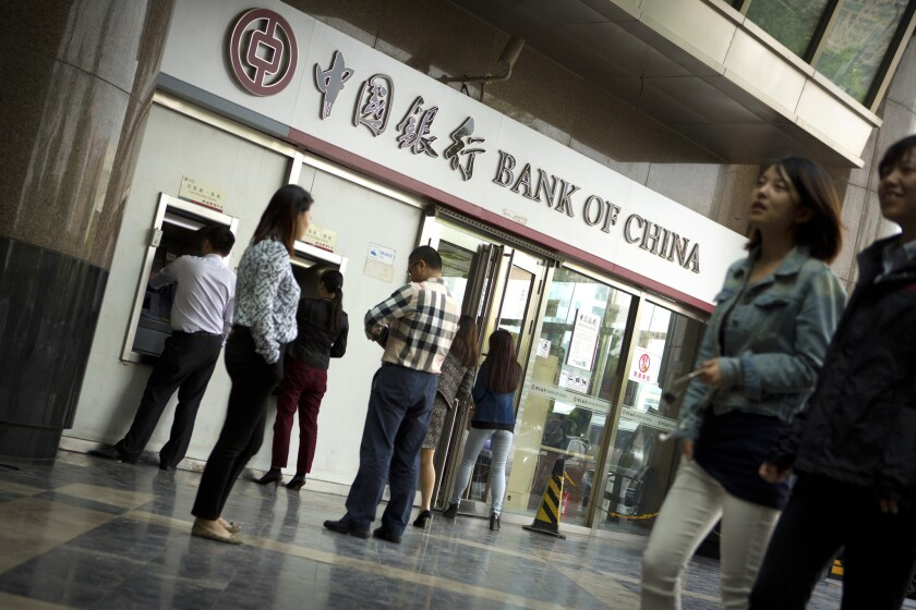 Bank of China is one of several large, state-owned Chinese banks.