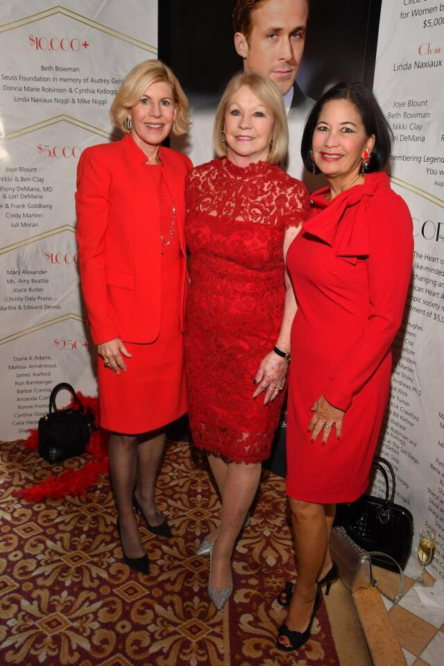 Maggie Watkins (prior Go Red chair), Joyce Glazer, Dee Ammon