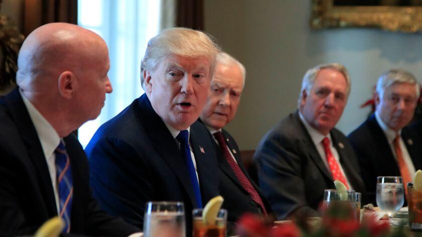 Donald Trump, Kevin Brady, Orrin Hatch, John Shimkus, Fred Upton