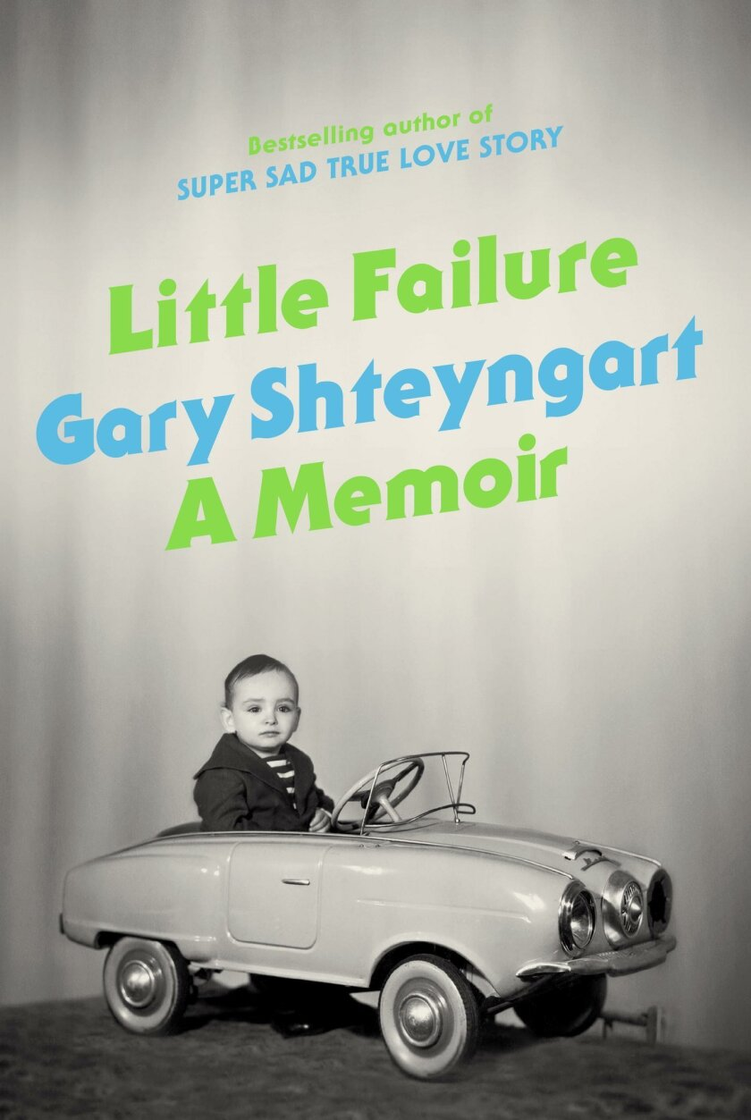 """This book cover image provided by Random House shows """"Little Failure,"""" a memoir by Gary Shteyngart. In the book, Russian-American novelist Shteyngart offers a funny, honest memoir of an immigrant success story. (AP Photo/Random House)"""