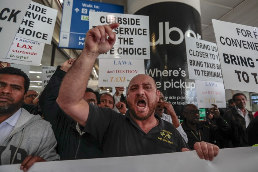 Cab drivers protest