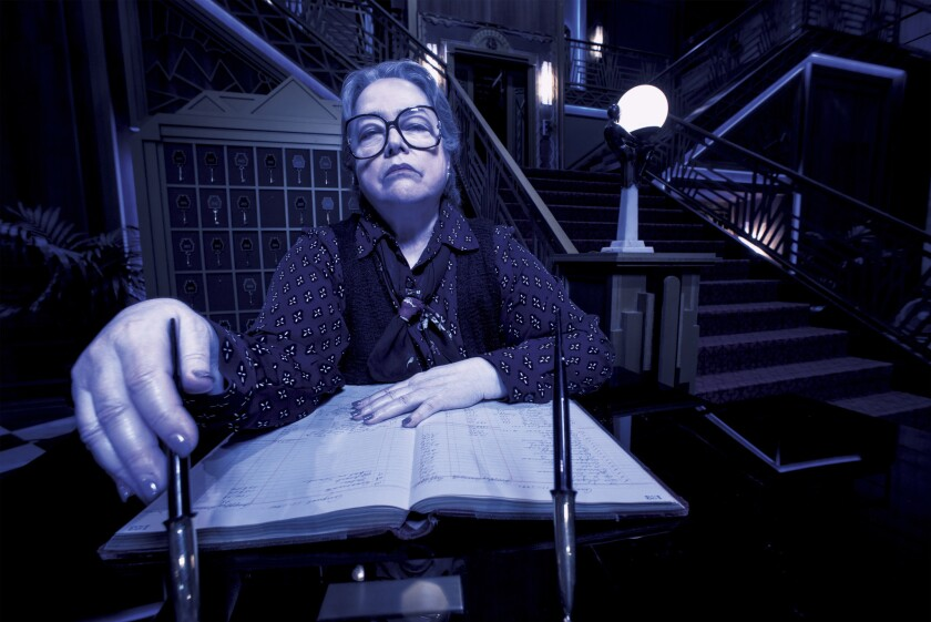 """Kathy Bates as hotel manager Iris in the fifth season of FX's """"American Horror Story."""""""
