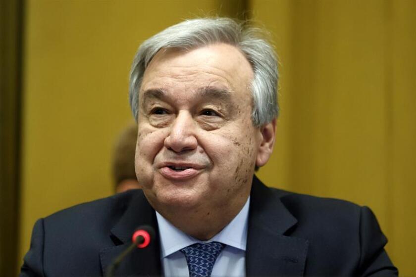El secretario general de la ONU, Antonio Guterres, participa en la primera sesión del año del Consejo de Derechos Humanos celebrada en Ginebra (Suiza). EFE/Archivo
