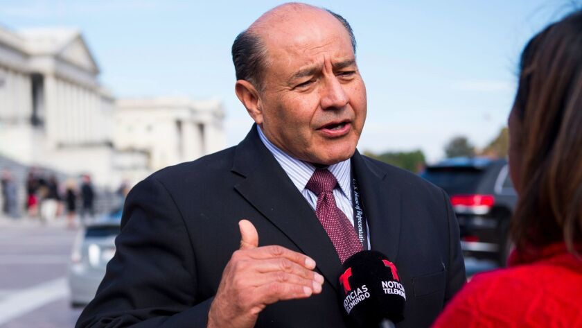 """Rep. Lou Correa (D-Santa Ana), does an interview with Noticias Telemundo. He's bringing a """"Dreamer"""" to the State of the Union address."""