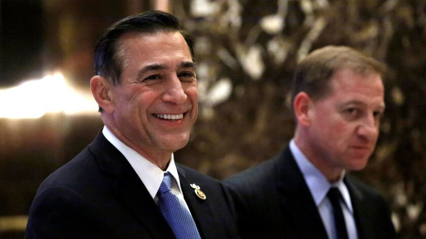Rep. Darrell Issa, left, wants new rules for H-1B visas that give greater protection to U.S. workers.