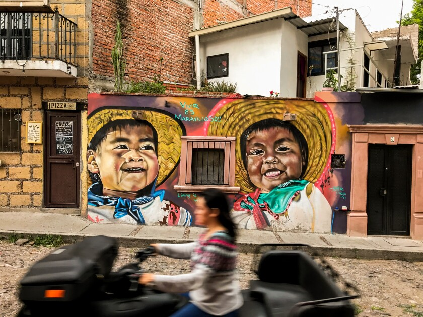 A mural in the Guadalupe neighborhood of San Miguel de Allende