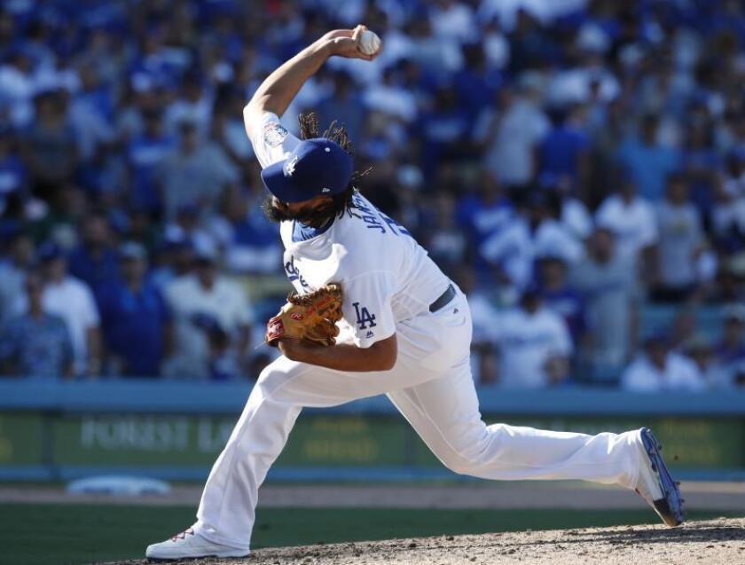 El jugador de los Dodgers, Kenley Jansen. EFE/Archivo