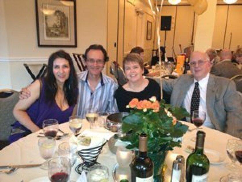L to R: Tina Ziainia & Art Mendoza, Alicia & Charles Foster