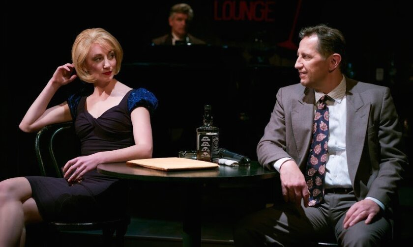 """Sharon Rietkerk, Jeffrey Rockwell and Kevin Bailey (left to right) in """"Gunmetal Blues"""" at North Coast Rep."""